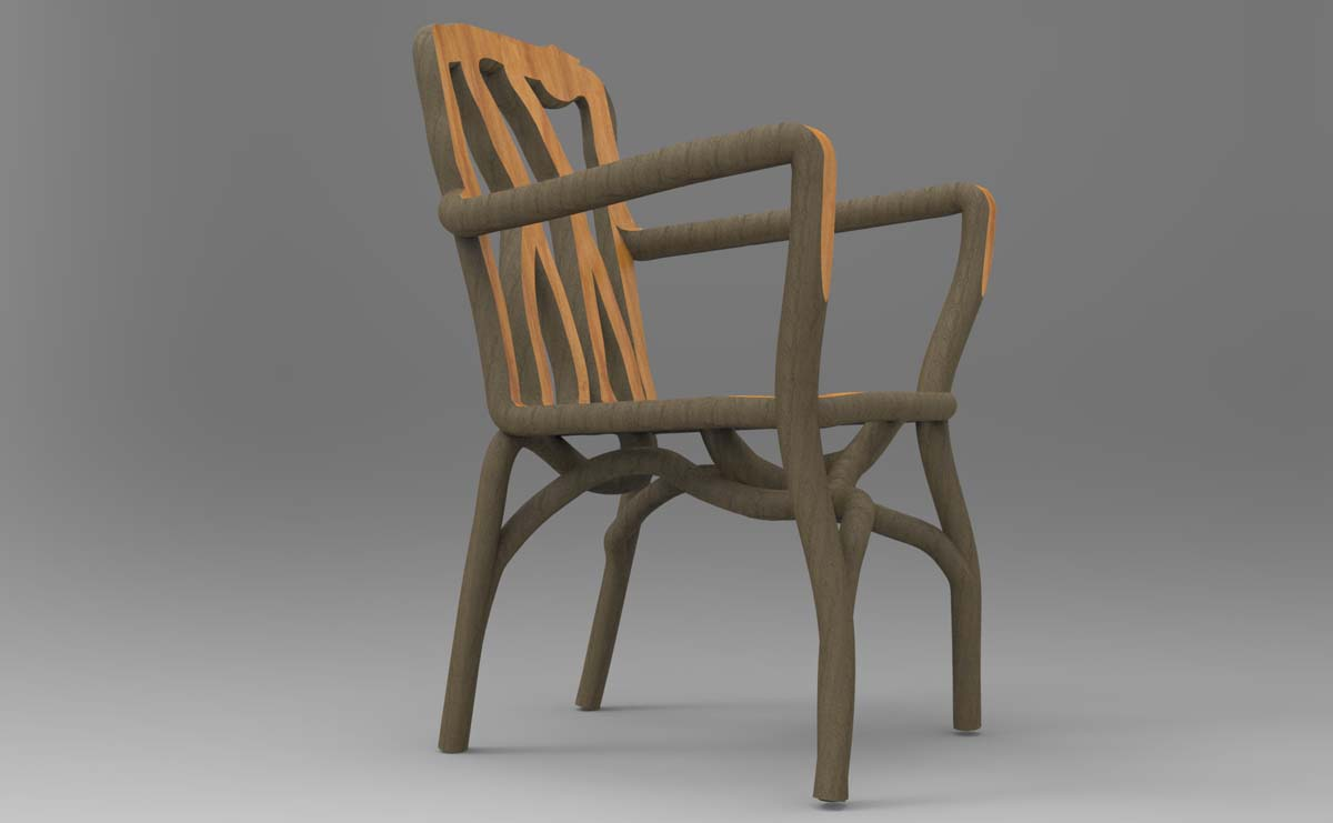 A projection of one of the First Edition Arm Chairs - pre-orders ready by Autumn 2017