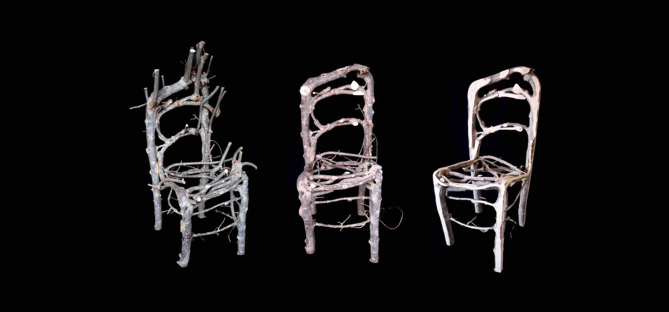 A triptych of the Wiltshire chair, from Raw to Finished